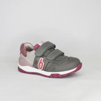 Biomecanics zapato deportivo gris y rosa
